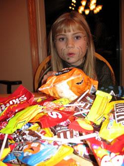 Emma's Halloween Candy Haul in 2007