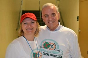 Wear your celiac or gluten-free shirt today!  Pictured:  me with MN Governor Dayton at a celiac fundraiser in May 2011.