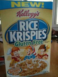 Gluten Free Rice Krispies being discontinued;  photo from 2011