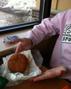 Gluten Free Subway sandwich in Cloquet, MN - dated April 2013