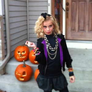 My other daughter, Grace, as Madonna in 2012