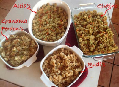 Finished Gluten Free Stuffing