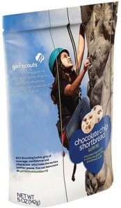 A bag instead of a box for the GF Girl Scout Cookies
