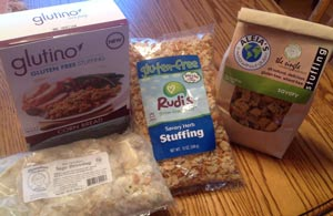 Gluten Free Stuffing Products for Taste Test