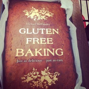 Photo of Gluten Free Baking book before I even got it out of the store