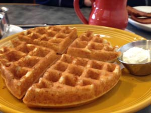 Gluten Free Waffles using Pamela's Mix