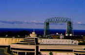 Duluth's Aerial Lift Bridge at the tip of Lake Superior; Courtesy: VisitDuluth.com