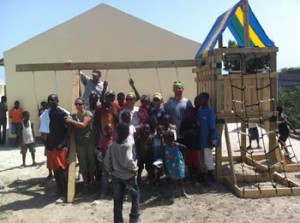 2012 Haiti trip my husband went on and they built a playground.  Now our whole family is going -- Gluten Free and all!