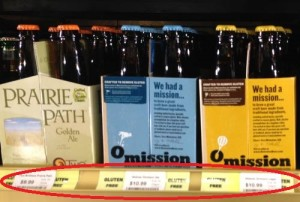 "Liquor store labeling so-called ""gluten removed"" beers gluten free"
