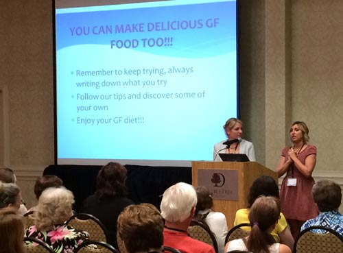 Jessie and Jillian Lagasse speaking at the GF Living Conference April 5, 2014
