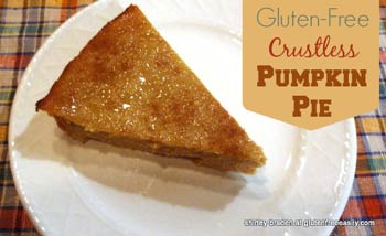 Crustless Pumpkin Pie  Photo Courtesy: GlutenfreeEasily.com