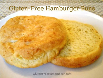 Gluten-free flat bread recipe that bakes up hamburger/sandwich buns