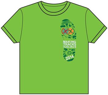 2014 Making Tracks for Celiacs t-shirt