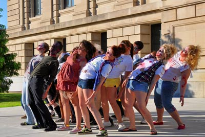 Zombie Flash Mob, 2013; photo courtesy PeruZombieWalk.org