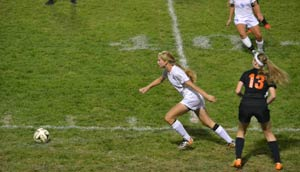 Emma on the soccer field