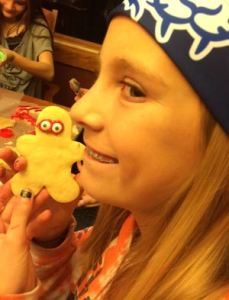 Grace, my non-GF daughter decorated regular cookies at a cookie decorating and exchange event recently