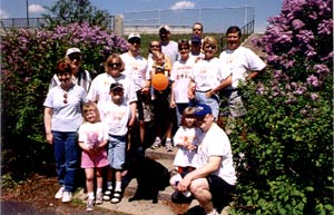 My family at the 2nd walk in 2003.  Emma, pictured bottom right with my brother.