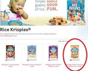 GF Rice Krispies is still on the main website